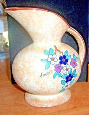 "Signed Antoine Dubois Belgium Mid Century Art Pottery 7"" Ewer Pitcher Vase"