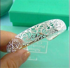 wholesale New  Xmas Gifts Solid 925 Silver  Jewelry Hollow Out Bangle / Bracelet