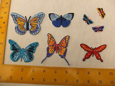 EMBROIDERED Various Butterfly Butterflies set 2 Iron On / Sew On Patch