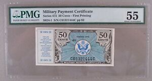Military Payment Certificate MPC Series 472 50¢ First Printing PMG About Unc. 55