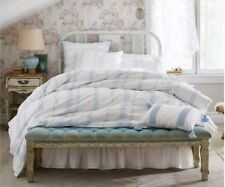 Simply Shabby Chic Twin 2 piece Duvet Cover Set- Blue White Bohemian Embroidered