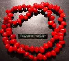 """8x5mm Oxblood red branch mediteranean color bamboo coral (dyed) beads 15"""" bs027"""