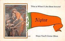 Michigan Mi PENNANT Postcard 1914 ALPINE What I Like Best