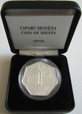 Lettland 1 Lats 2007 Coin of Digits Silber