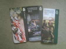 Goodwood Festival 2012 & 2015 , Revival 2012 promotional leaflets
