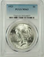 1923-P $1 PEACE SILVER DOLLAR PCGS MS63 #39204857 - GREAT EYE APPEAL / BU COIN!!