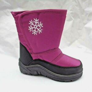 GIRLS THERMAL LINED WATER RESISTANT SNOW WELLINGTON BOOTS UK12 & UK13