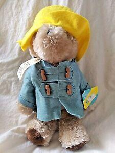 Vintage Eden Paddington Bear Plush Animal with Tags 1981 Blue Coat Yellow Hat