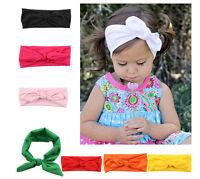 Toddle Baby Girl Bow Headband Turban Knot Head Wrap  Rabbit Ears Hair Band JR