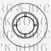 BORG /& BECK BBD4091 BRAKE DISCS PAIR RC566372P OE QUALITY
