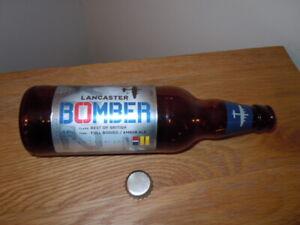 LANCASTER BOMBER EMPTY BEER BOTTLE HOME BAR MAN CAVE