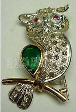 Antique Victorian Look 925 Silver Brooch 1.96ct Rose Cut Diamond Ruby Emerald