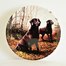 """WEDGWOOD PLATE - """"AUTUMN"""" FROM THE BLACK LABRADORS - JOHN SILVER"""