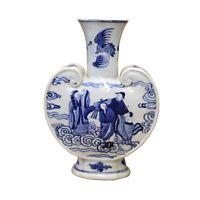 Chinese Blue White Porcelain People Theme Pendant Shape Vase cs4700