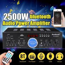 2500W HiFi Verstärker bluetooth 5 Kanal Stereo FM-Radio USB SD Home Karaoke DE