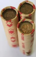 1800'S -1900'S INDIAN HEAD/WHEAT PENNY ROLLS FROM ESTATE SALE LOT