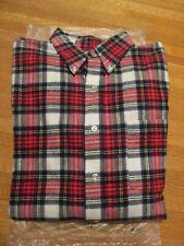 Vintage Ll Bean Button-Down Shirt Plaid 100% Cotton Flannel Made in Usa Mens L