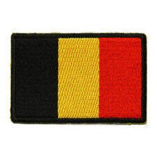 Embroidered Belgium Flag Sew or Iron on Patch Biker Patch