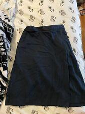 New listing land ends girls uniform skirt size 14 navy blue