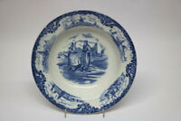 Wedgewood & Co Hague Suppenteller England  Blau Weiß 20,5 cm