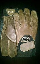OK-1-990 Anti-Vibration Premium Curve Technology GLOVES,MED color Brown Leather