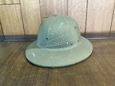Vintage Wwii Green Pith Military Helmet International Hat Co. 1944