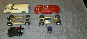 VINTAGE STROMBECKER 1/24  Lot Of 2 Slot Cars Parts