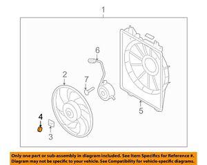 HYUNDAI OEM 99-06 Elantra 2.0L-L4 Cooling Fan-Fan Blade Washer 252373F000