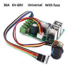 30A DC12V 48V 60V Speed Motor Controller Driver Control Rotary Knob w/ Fuse TP