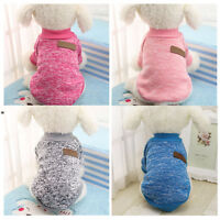 Cute Small Pet Dog Cat Puppy Warm Sweater Hoodie Coat Costume Apparel XS S M L