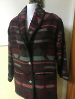 Vintage Eddie Bauer Womens Sm Wool Blend Aztec Indian Blanket Coat PRISTINE