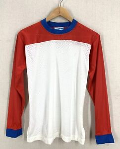 NOS Vintage 70's Champion Red White Blue Mesh Motocross Jersey Sz Small