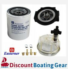 EASTERNER Marine Fuel Filter with Clear Bowl, Outboard Inboard Sterndrive Boat