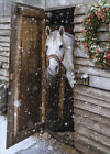 Horse At Barn Door Avanti Blank Inside Christmas Card photo