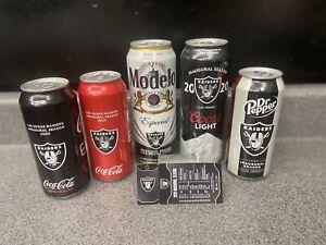 Vegas Raiders 2020 Inaugural Season Cans: Coors LT,Modelo, Coke & DP *empty cans