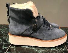 Coach Women's Urban Hiker Suede Cold Weather Boots Size 8.5 DARK DENIM Blue