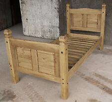 Pinie Massiv Bett 90x200 Bett Holz Massivholzbett corona Farbton Brasil