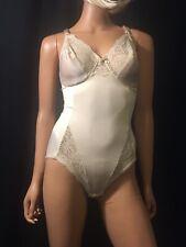 Vintage Nude Vassarette All In One Bodysuit Shaper Teddy Romper