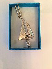 "Brooch pin pewter emblem 3"" 7.5 cm Yacht Pp-T13 Scottish kilt pin Scarf or"