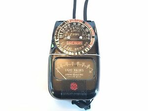 GE General Electric Type DW-48 Exposure Foot Candles Light Meter box Prop