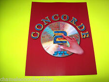 CONCORDE 2 By JVL ORIGINAL FOLD-OUT NOS VIDEO ARCADE GAME FLYER BROCHURE
