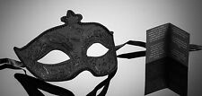 original venezianische Maske Karneval Maskenball Augenmaske Handmade Schwarz NEU