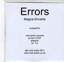 (CA59) Errors, Magna Encarta - 2011 DJ CD