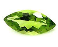 5mm x 2.5mm Natural Green Peridot  Marquise / Navette Cut Gem Gemstone