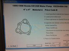 Honda CR125R Water Pump Gasket 1990 1991 1992 1993 1994 1995 1996 1997 1998