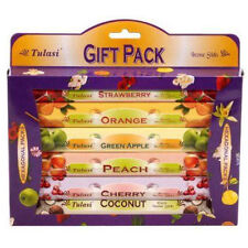Tulasi Multiple Pack of Six Fruit Scents Incense Sticks (6 X 20 Sticks)