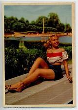 PIN UP Sexy Blonde Beach Girl PC circa 1960 Real Photo Italy 34