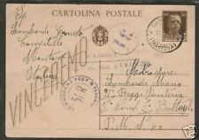 Italy 1943 Censored Postal Card, Mantova CDS