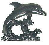 4 wholesale lead free pewter dolphin figurines E5062