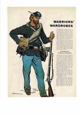 VINTAGE LOT OF 4 1961 WARRIOR'S WARDROBES YANKEE REBEL SOLDIER RIFLES AD PRINT